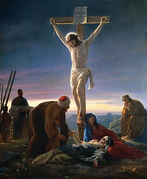 Sacrifice - Artwork depicting the Sacrifice of Jesus: Christ on the Cross by Carl Heinrich Bloch