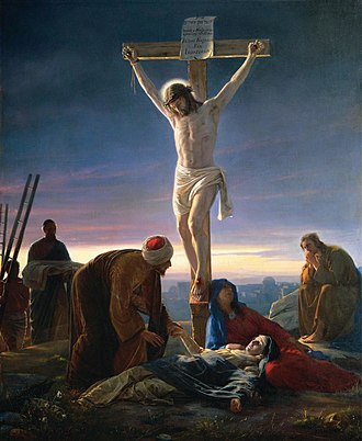 Crucifixion - Christ at the Cross by Carl Bloch, painting c. 1870
