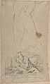 Christ on the Cross; verso- St. Jerome Reading by Candlelight, and Sketch of Male Torso (?) MET DP802374.jpg