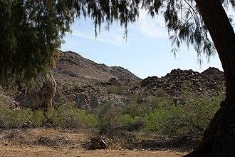 Chuckwalla Mountains - Chuckwalla Mountains from Corn Springs