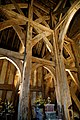 Church of St Laurence Blackmore Essex England - timbered tower interior 03.jpg
