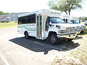 Citrus County Transit - Citrus County Bus at a county-run facility in Lecanto, Florida