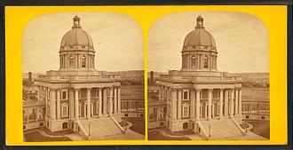 Boston City Hospital - Boston City Hospital, Harrison Avenue, Boston, 19th century (photo by John B. Heywood)