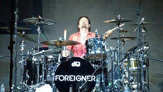 Chris Frazier - Frazier performing with Foreigner at Centro de Convenciones Claro, Lima-Peru, 02/04/2013