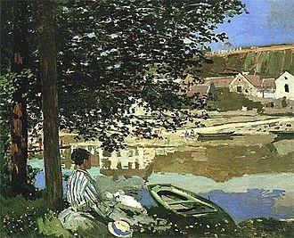 Camille Doncieux - River Scene at Bennecourt, Seine, 1868