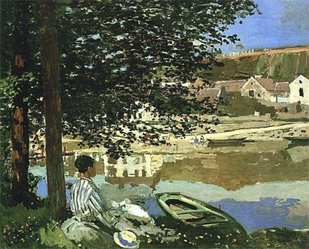 Au bord de l'eau à Bennecourt, Claude Monet, 1868, Art Institue of Chicago.