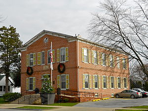 Delaware City, Delaware - Former school and Town Hall on Clinton Street