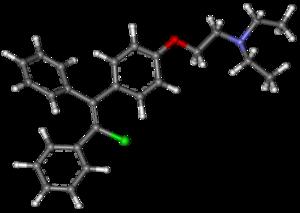 Clomifene - Image: Clomifene ball and stick