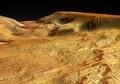 Close-up perspective view of Ophir Chasma, looking from east to west ESA205776.tiff