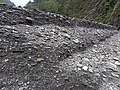 Close-up view of a long cliff formed by riverbank erosion at the Danda and Zhuoshui confluence on 16th October 2020.jpg