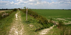 Devil's Dyke, Cambridgeshire - View from the top of Devil's Dyke towards Reach.