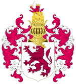 Coat of Arms of Leon with the Royal Crest.svg