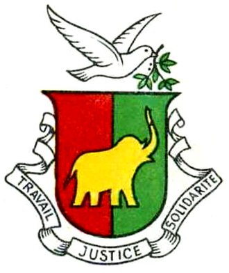 Coat of arms of Guinea - Image: Coat of arms of Guinea 1958