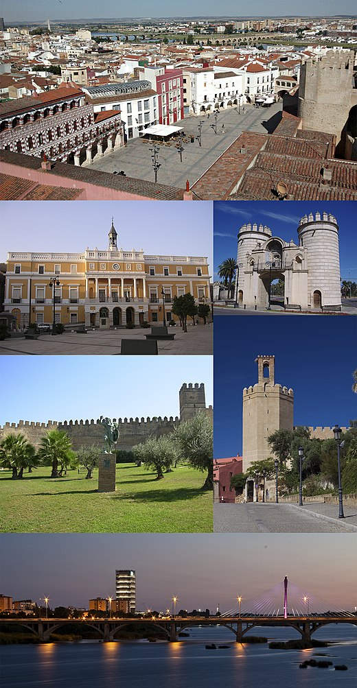 Collage van foto's van Badajoz