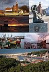 Plaża, Port, Latarnia morska - Ustka