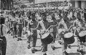 Armed Forces of the Democratic Republic of the Congo - ANC parade in 1960