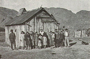 Settler - Chilean settlers in Baker River, 1935.