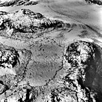 Columbia Glacier, Terentiev Lake, Calving Distributary, June 27, 1975 (GLACIERS 1240).jpg