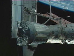 Columbus module in orbit.jpg