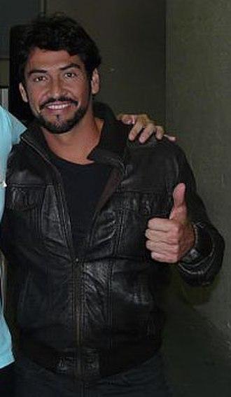 La Reina del Sur (telenovela) - Image: Con el gran actor Gabriel Porras