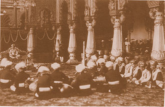 Musicians of the Kingdom of Mysore - A concert in progress at the Mysore Palace