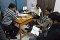 Conference Preparation - Bengali Wikipedia 10th Anniversary Celebration - Jadavpur University - Kolkata 2015-01-07 2320.JPG