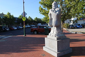 Dickson Centre, Australian Capital Territory - Statue of Confucius in Woolley St