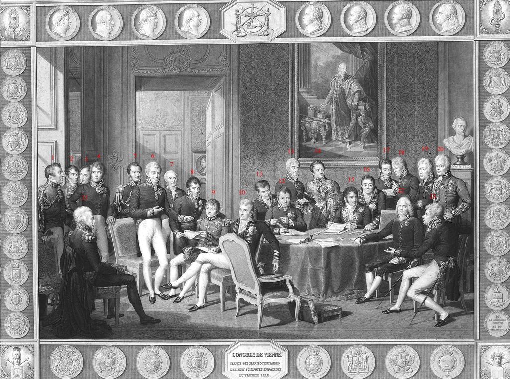 El Congreso de Viena, por Jean-Baptiste Isabey, 1819.