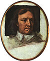 Oliver Cromwell, an unfinished portrait miniature by Samuel Cooper