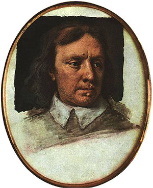 Samuel Cooper - Unfinished portrait miniature of Oliver Cromwell, c. 1650.