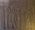 Coronation of Pharaoh Ptolemy IX - Kom Ombo Temple.jpg