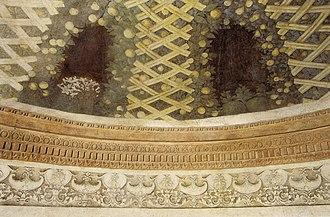 Mantegna funerary chapel - Image: Correggio, cappella funeraria del mantegna, cupola 02