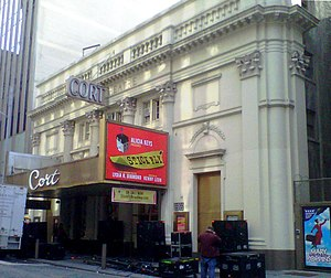 Cort Theatre - Image: Cort Theatre during load in