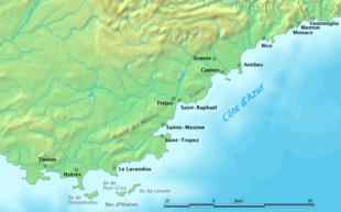 Cartina Stradale Costa Azzurra.Costa Azzurra Wikipedia