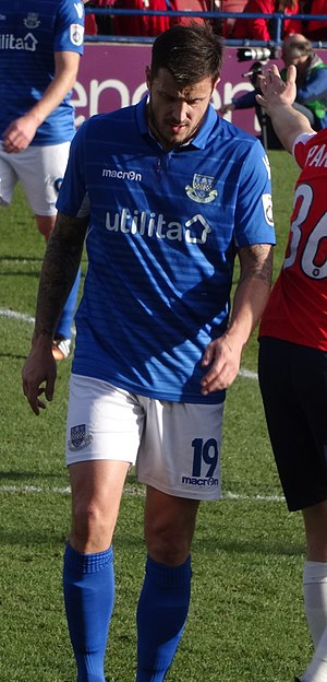 Craig McAllister - McAllister playing for Eastleigh in 2017
