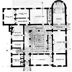 HDB/Cram and Ferguson - Image: Cram and Ferguson Currier Art Gallery proposal 1920, floor plan