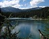 Crap Sogn Gion and Vorab from Caumasee, Flims