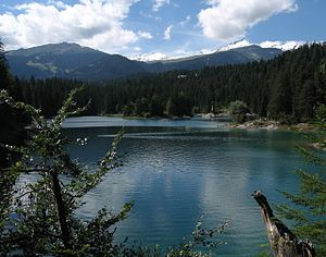 Vorab - Image: Crap Sogn Gion and Vorab from Caumasee, Flims
