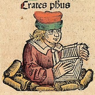 Crates of Athens - Crates of Athens, depicted as a medieval scholar in the Nuremberg Chronicle
