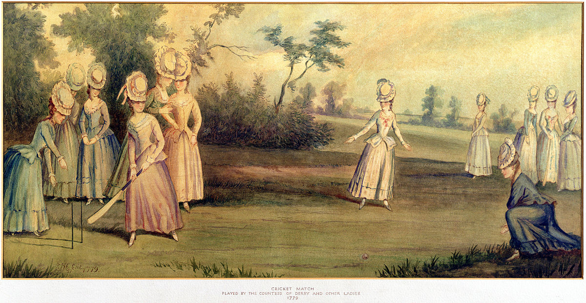 Cricket Match Played by the Countess of Derby and Other Ladies, 1779.jpg