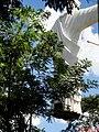 Cristo Salvador de Sertãozinho, em construção. Içamento para o pedestal da estátua do Cristo que pesa 40 toneladas e mede 18 metros de altura em 24 de abril de 2013.Quando içado, o Cristo ficou com al - panoramio.jpg