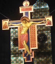 Crucifijo, iglesia de Santo Domingo de Arezzo, 267x336 cm.