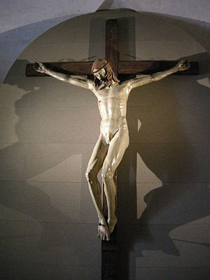 The Agony and the Ecstasy (novel) - Wooden Crucifix at Santa Maria Novella by Brunelleschi, 1410–15