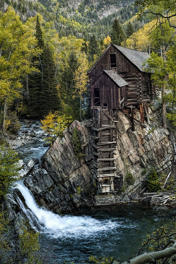 The old Crystal Mill power plant in Crystal, Colorado, United States.