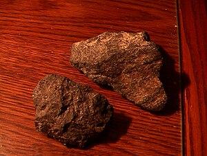 Cumberlandite - Two pieces of Cumberlandite