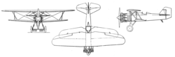 Curtiss F6C-4 3-view L'Aéronautique October,1927.png