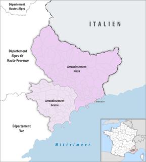 Arrondissements of the Alpes-Maritimes department