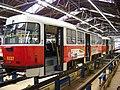 DOD vozovna Strašnice, tramvaj 8337 na kontrolní prohlídce.jpg