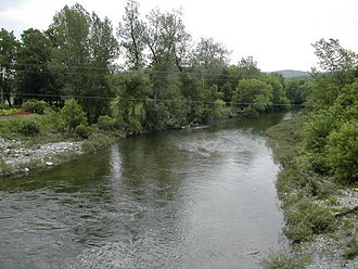 Waits River - The Waits River in Bradford, Vermont in 2002