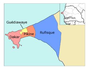 Departments of Senegal - Departments of Dakar Region